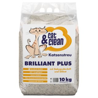 Cat & Clean® Brilliant Plus mit Babypuderduft und Silikat